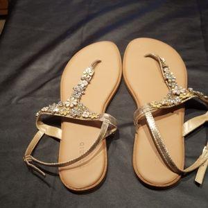 Torrid Embellished Sandals, EUC